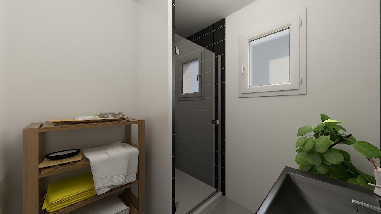 maison ossature bois logicobois modele shangai - sdb2