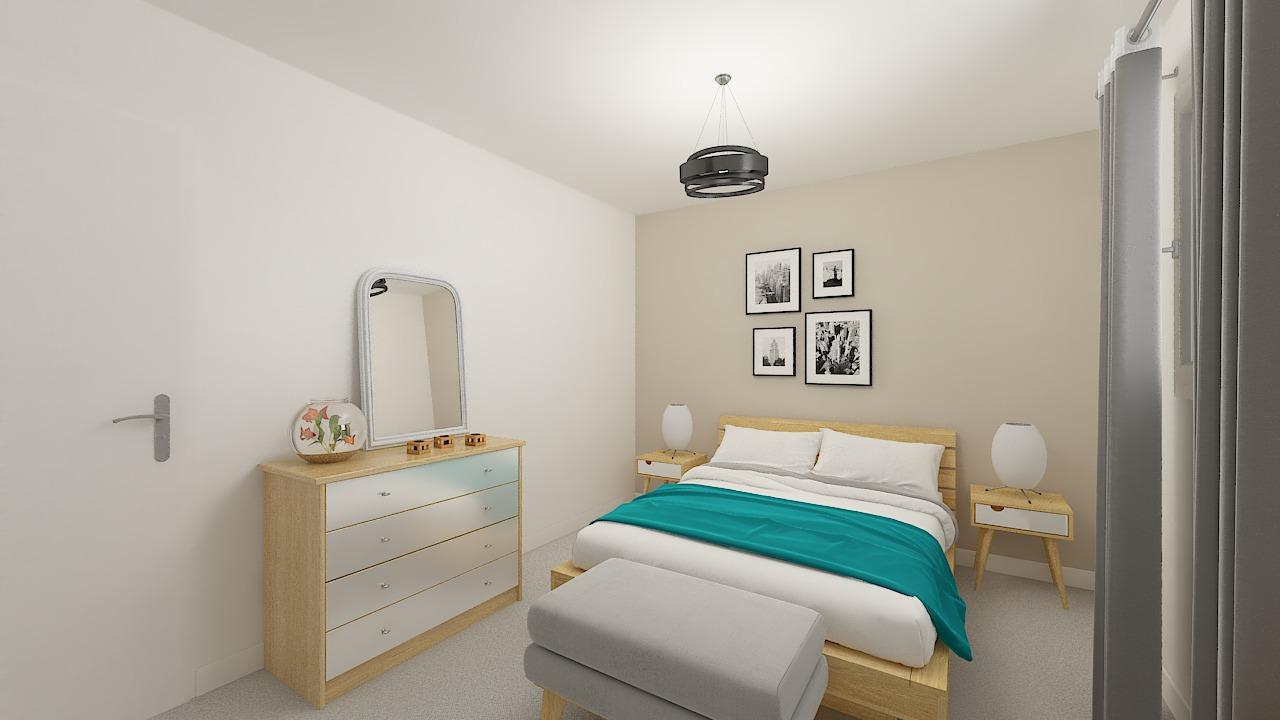 maison ossature bois logicobois modele stockholm - chambre1