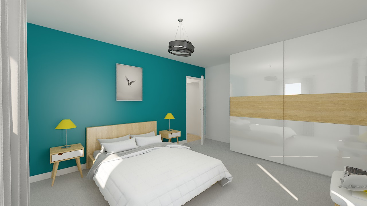 maison ossature bois logicobois modele stockholm - chambre3