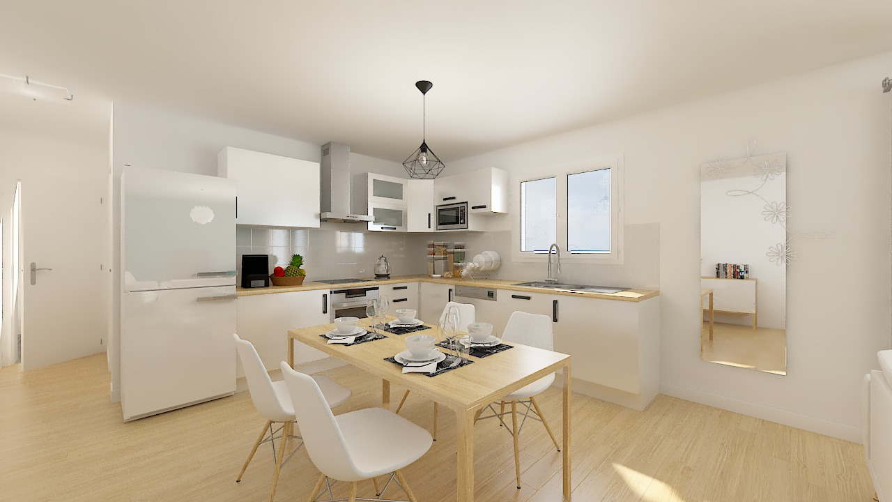 maison ossature bois logicobois modele stockholm - cuisine