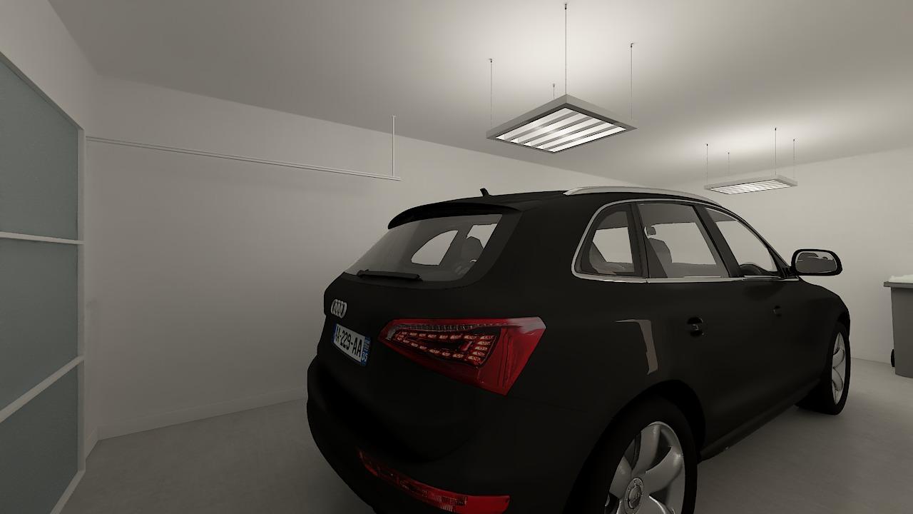 maison ossature bois logicobois modele stockholm - garage