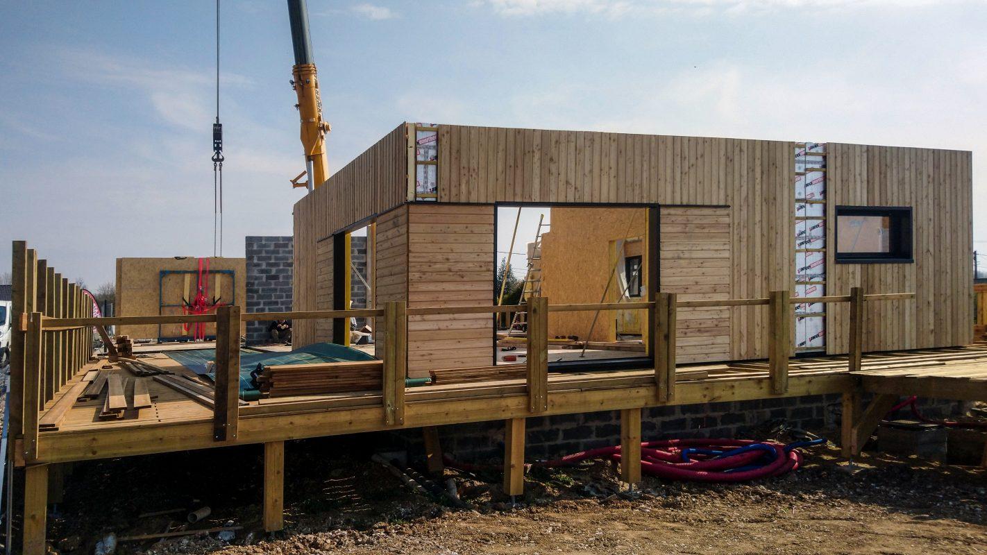 montage murs ossature bois