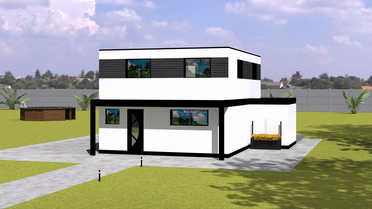 maison ossature bois modele oran vue devant