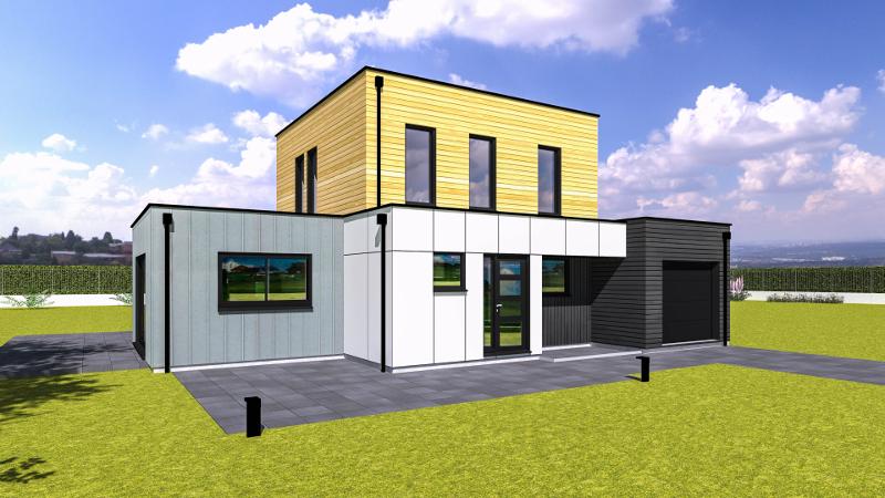 constructeur maison ossature bois moderne