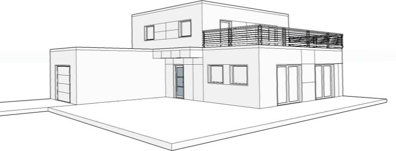 dessin maison ossature bois