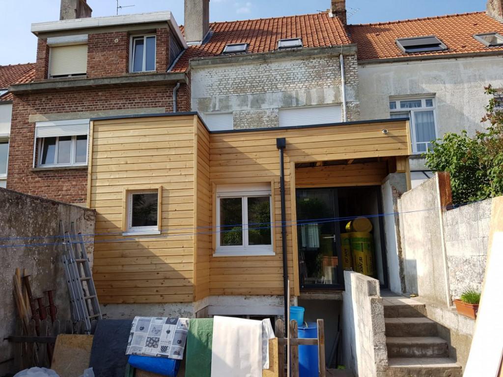 extension maison ossature bois pas de calais
