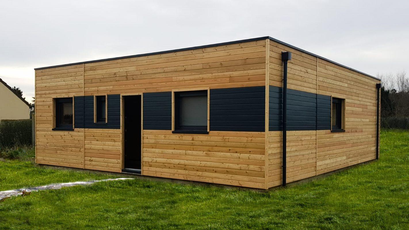 maison cubique ossature bois