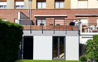 extension maison panneaux fundermax