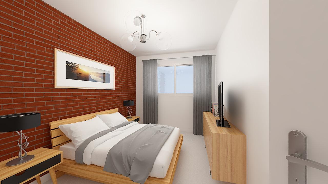 maison ossature bois logicobois modele oslo - chambre1