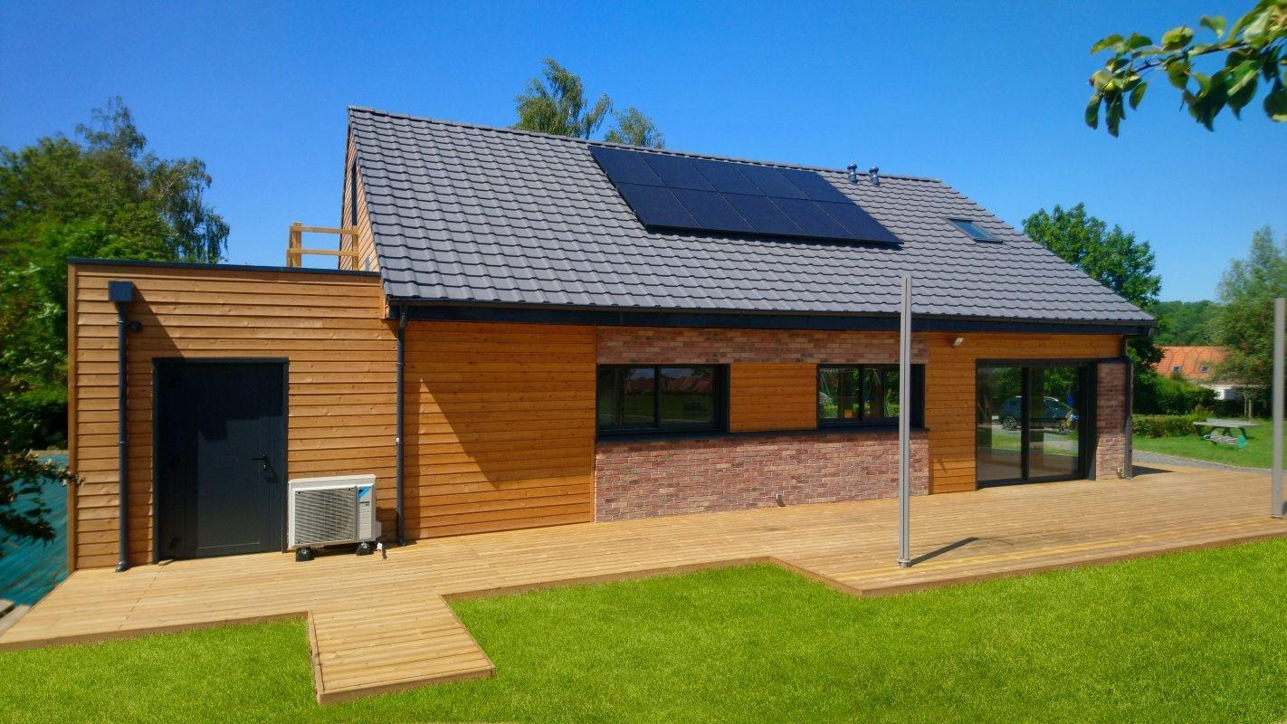 maison ossature bois et briques