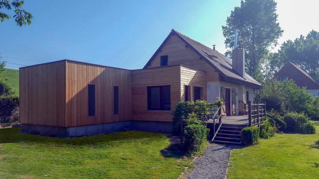 extension bois extension maison bois